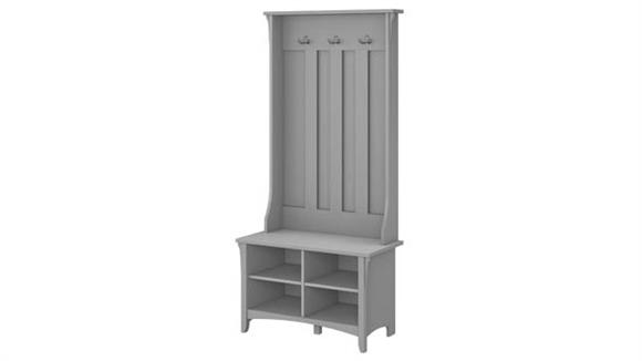 File Cabinets Lateral Bush Furnishings Hall Tree with Storage Bench