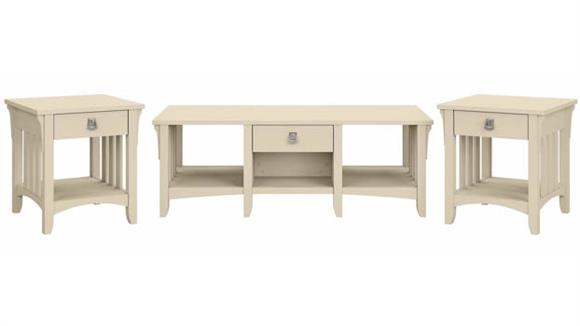 Coffee Tables Bush Furnishings Coffee Table with Set of 2 End Tables
