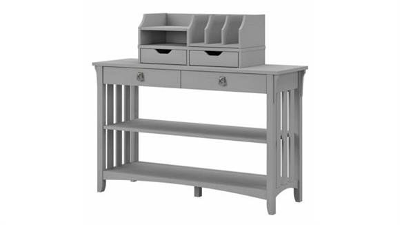 Console Tables Bush Furnishings Console Table with Storage and Desktop Organizers