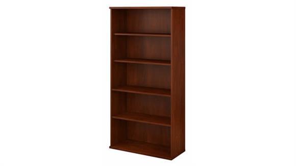 Bookcases Bush Furnishings 5 Shelf Bookcase
