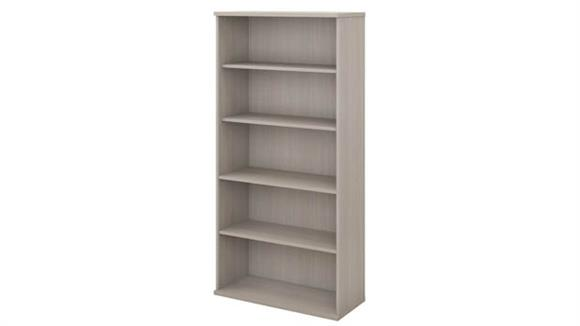 Bookcases Bush Furnishings 5 Shelf Bookcase