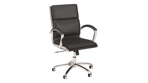 Office Chairs Bush Furnishings Mid Back Leather Executive Office Chair