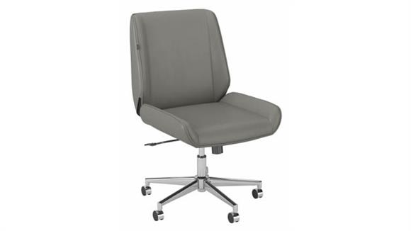 Office Chairs Bush Furnishings Wingback Leather Office Chair