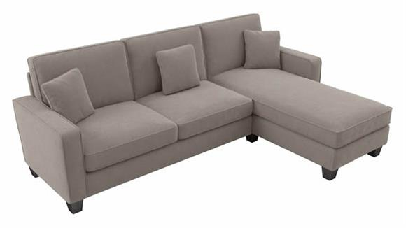 """Sectional Sofas Bush Furnishings 102""""W Sectional Couch with Reversible Chaise Lounge"""