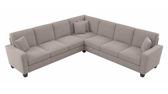 """Sectional Sofas Bush Furnishings 110""""W L-Shaped Sectional Couch"""