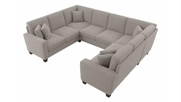 """Sectional Sofas Bush Furnishings 112""""W U-Shaped Sectional Couch"""