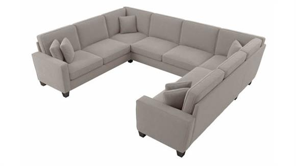 """Sectional Sofas Bush Furnishings 123""""W U-Shaped Sectional Couch"""