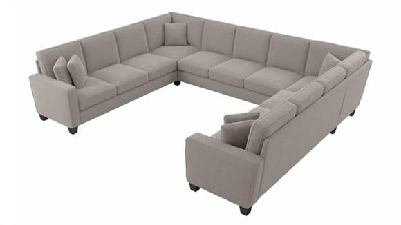 """Sectional Sofas Bush Furnishings 135""""W U-Shaped Sectional Couch"""