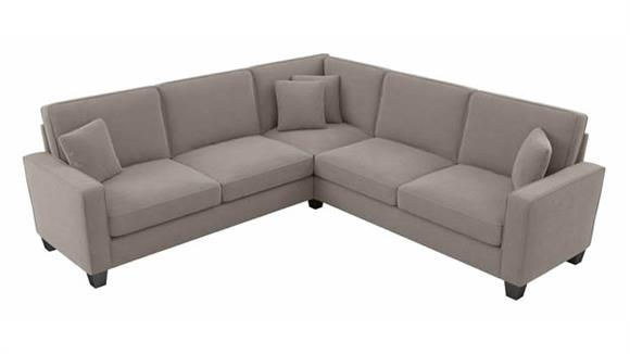"""Sectional Sofas Bush Furnishings 98""""W L-Shaped Sectional Couch"""