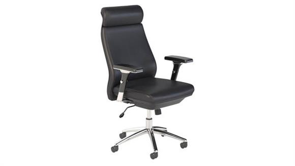 Office Chairs Bush Furnishings High Back Leather Executive Office Chair