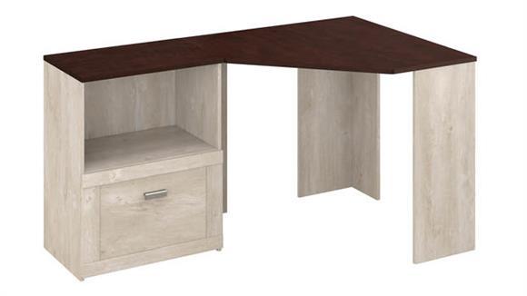 Corner Desks Bush Furnishings Corner Desk with Lateral File Cabinet