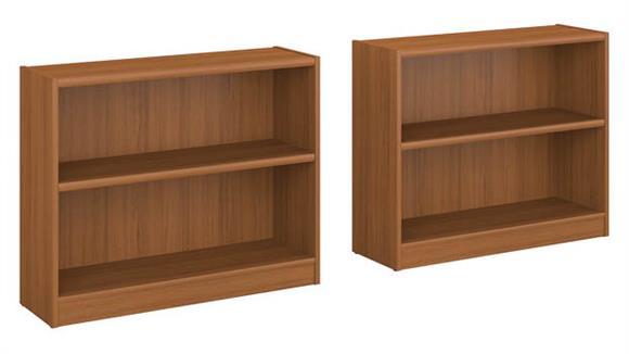Bookcases Bush Furnishings 2 Shelf Bookcase - Set of 2