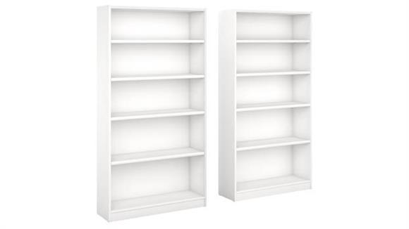 Bookcases Bush Furnishings 5 Shelf Bookcase - Set of 2
