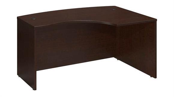 "Executive Desks Bush Furnishings 60""W x 43""D Right Hand L-Bow Desk Shell"