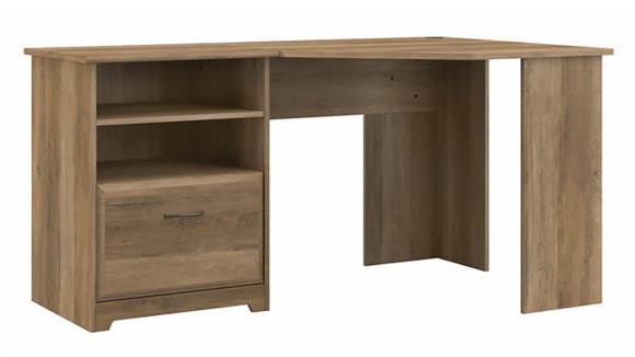 """Corner Desks Bush Furnishings 60""""W Corner Desk with Storage  M"""