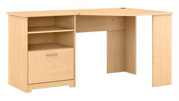 """Corner Desks Bush Furnishings 60""""W Corner Desk with Storage"""