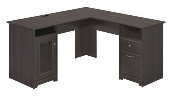 "L Shaped Desks Bush Furnishings 60"" W L-Shaped Desk"