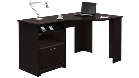 """Corner Desks Bush Furnishings 60"""" W Corner Desk with Storage"""