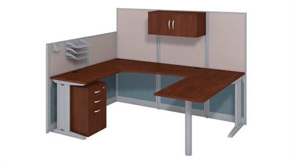 Workstations & Cubicles Bush Furnishings U Shaped Workstation with Storage