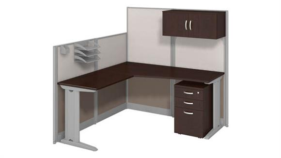 Workstations & Cubicles Bush Furnishings L Workstation with Storage