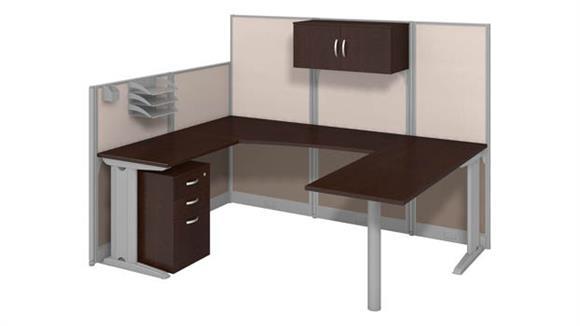Workstations & Cubicles Bush Furnishings U Shaped Workstation with Storage