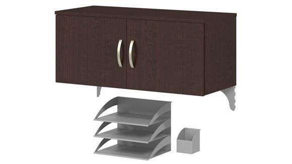 Storage Cabinets Bush Furnishings Storage Cabinet with Accessories