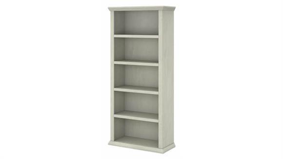 Bookcases Bush Furnishings Tall 5 Shelf Bookcase
