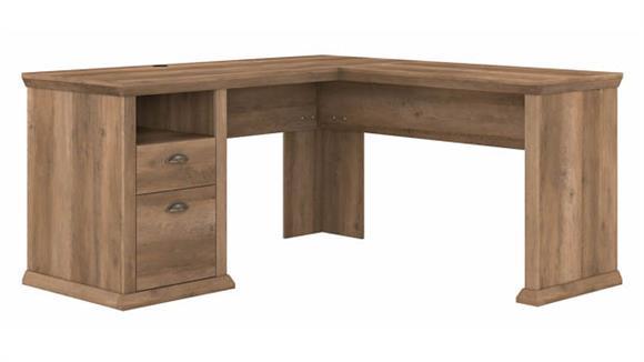 "L Shaped Desks Bush Furnishings 60""W L-Shaped Desk with Storage"