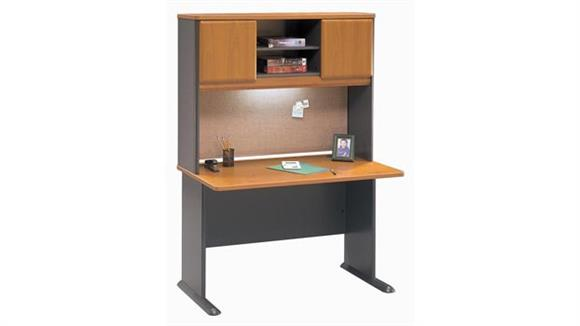 "Modular Desks Bush Furnishings 48"" Desk with Hutch"