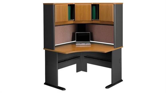 Corner Desks Bush Furnishings Corner Desk with Hutch