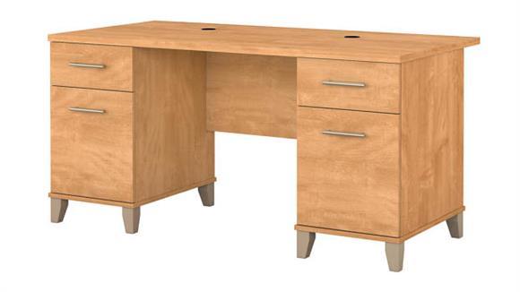 "Executive Desks Bush Furnishings 60"" Double Pedestal Desk"