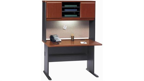 "Modular Desks Bush Furnishings 48"" Desk with Hutch"