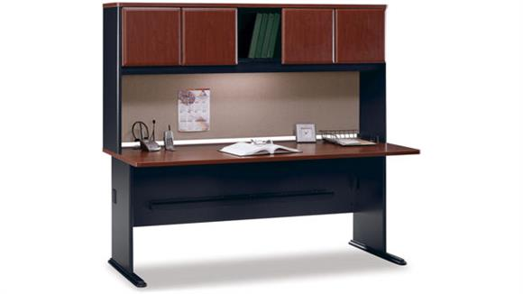 "Modular Desks Bush Furnishings 72"" Desk with Hutch"