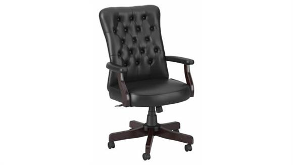 Office Chairs Bush Furnishings High Back Tufted Office Chair with Arms
