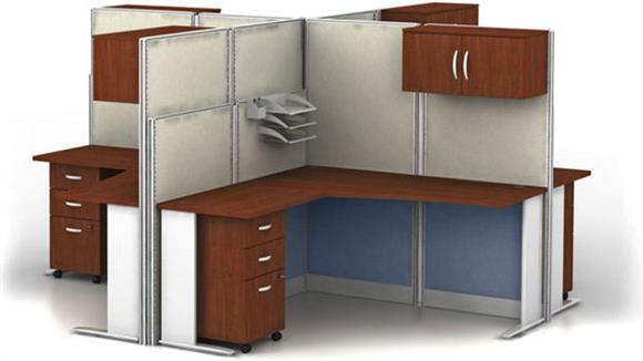 Workstations & Cubicles Bush Furnishings Set of 4 L Workstations