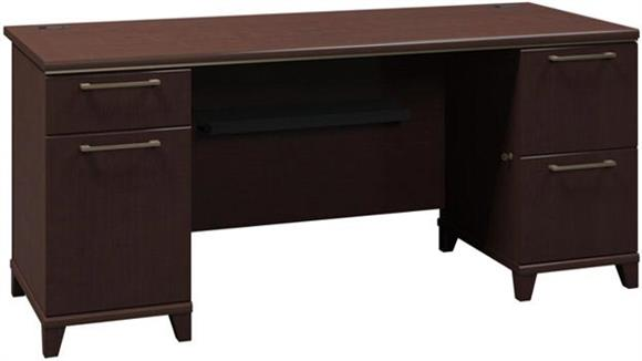 """Executive Desks Bush 72"""" Double Pedestal Desk"""