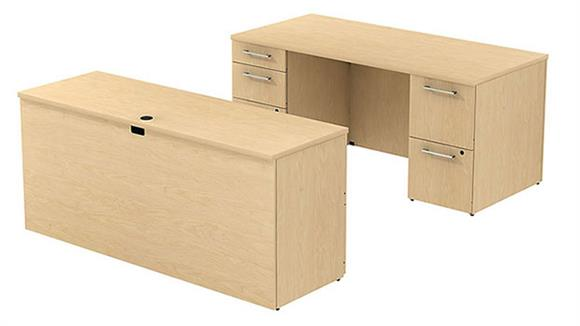 Executive Desks Bush Desk & Credenza Set