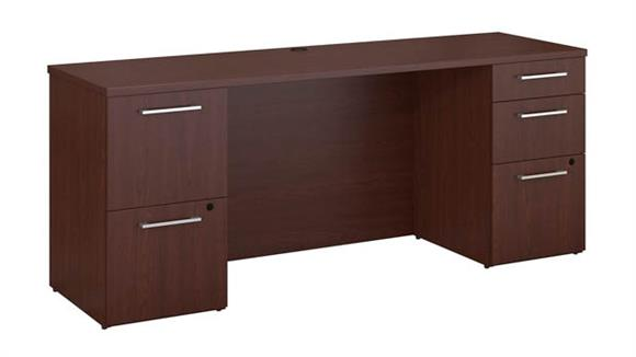 "Executive Desks Bush 72""W x 22""D Office Desk with 2 and 3 Drawer Pedestals"