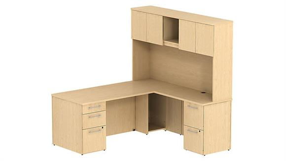 "L Shaped Desks Bush 72"" L Shaped Desk with Hutch"