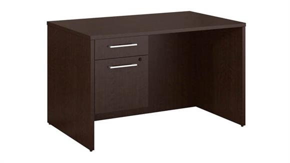 "Executive Desks Bush 48""W x 30""D Office Desk with 3/4 Pedestal"
