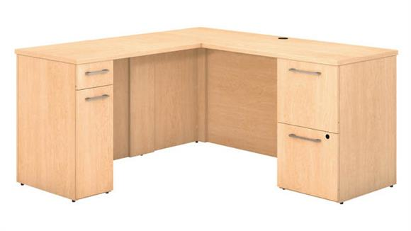 "L Shaped Desks Bush 60""W x 22""D L Shaped Desk with Storage"