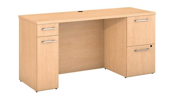 "Office Credenzas Bush 60""W x 22""D Office Desk with Storage"