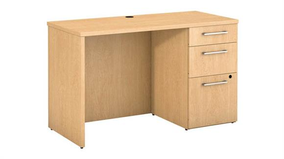 "Executive Desks Bush 48""W x 22""D Office Desk with Storage"