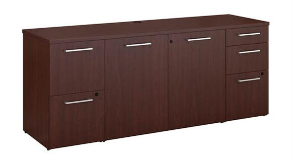 "Executive Desks Bush 72""W x 22""D Office Storage Credenza"