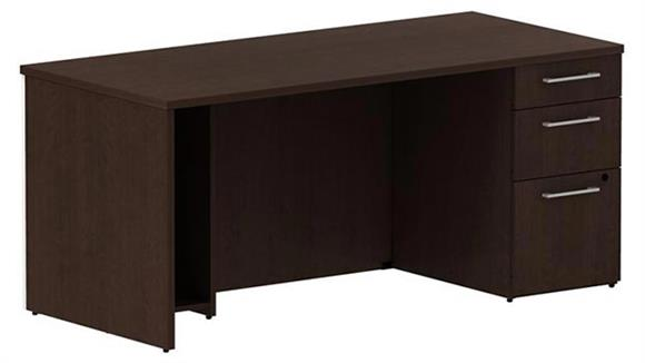 "Executive Desks Bush 66"" Single Pedestal Desk"