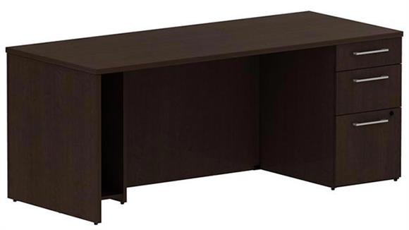 "Executive Desks Bush 72"" Single Pedestal Desk"