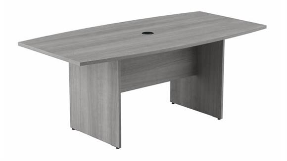 """Conference Tables Bush 72"""" W x 36""""D Boat Shaped Conference Table with Wood Base"""