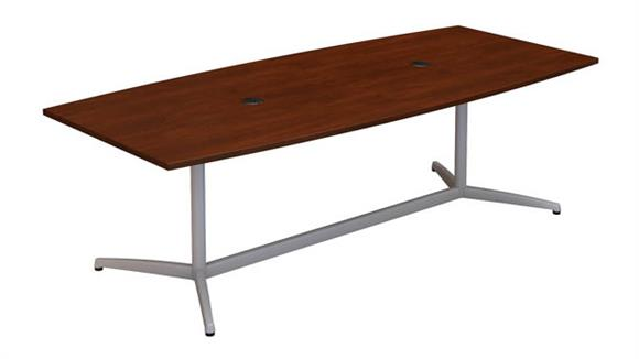 """Conference Tables Bush 96""""W x 42""""D Boat Shaped Conference Table"""