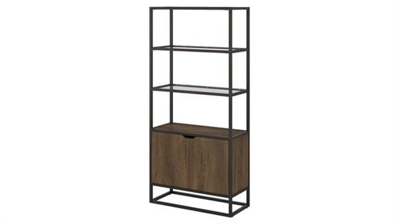 Bookcases Bush 5 Shelf Bookcase with Doors