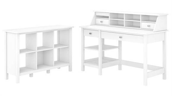 Computer Desks Bush Computer Desk with Open Storage, Bookcase and Organizer